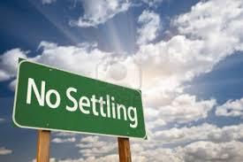 No settling